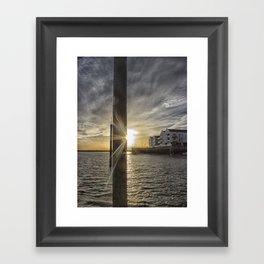 Across The Quay Framed Art Print