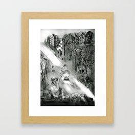 Frankestein - based on the wonderful work of Bernie Wrightson  Framed Art Print