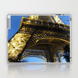 eiffel - night Laptop & iPad Skin