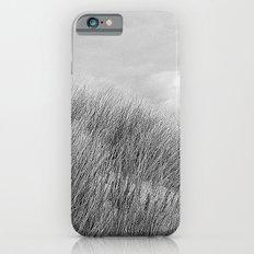 Beach grass - black and white iPhone 6s Slim Case