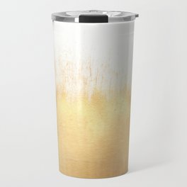 Brushed Gold Travel Mug