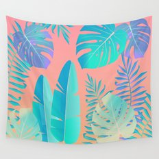 Tropics ( monstera and banana leaf pattern ) Wall Tapestry