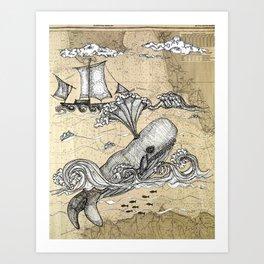 Vintage Whaler Art Print