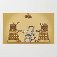 dalek Area & Throw Rugs featuring Dalek DIY by Doodle Dojo