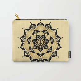 Lotus Peace Print Gold Edition Carry-All Pouch
