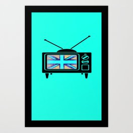 Brittish TV Takeover  Art Print