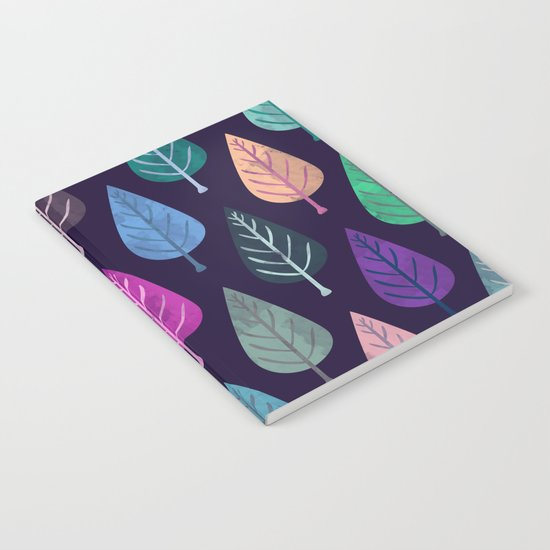 Watercolor Forest Pattern IV Notebook