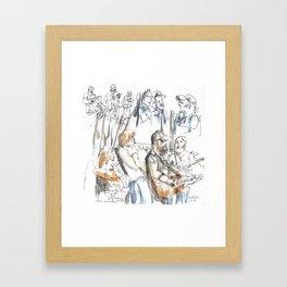 Andrew Neville & The Poor Choices Framed Art Print