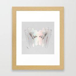 Splitting Hairs Framed Art Print