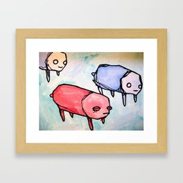 herd of pups Framed Art Print