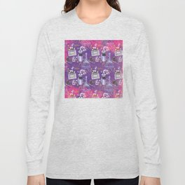 Fashion Victim - Paris France Elegance Shopping Girly in pink and purple Long Sleeve T-shirt
