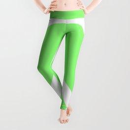 Peace (White & Light Green) Leggings