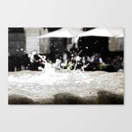dropping Canvas Print