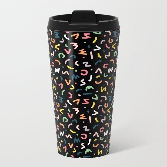 Neon Lights Metal Travel Mug