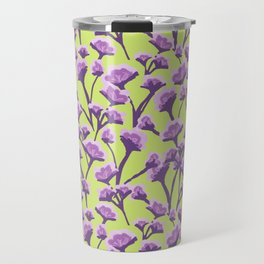 purple blossoms in a field of green Travel Mug
