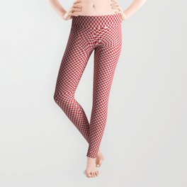 Houndstooth White & Red small Leggings