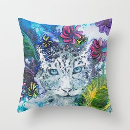 Queen Snow Leopard Throw Pillow