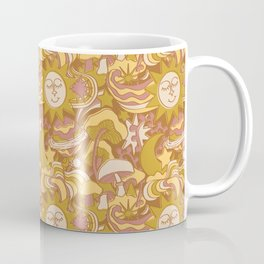 Psychedelic Daydream in Gold + Mauve Coffee Mug