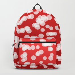 Blurry Lights: Red Backpack