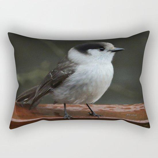 Gray Jay Rectangular Pillow