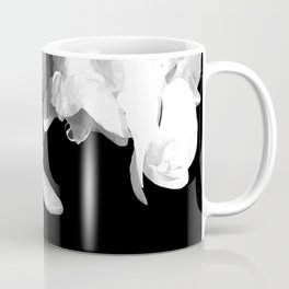 White Orchids Black Background Coffee Mug