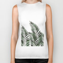 Palm Leaves Green Biker Tank