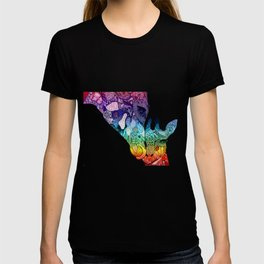 Giraffe Pair 1 - Rainbow T-shirt