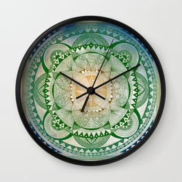 Metta Mandala, Loving Kindness Meditation Wall Clock