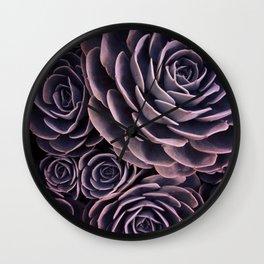 DARKSIDE OF SUCCULENTS I Wall Clock