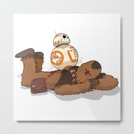 Chewbacca's Back Massage Metal Print