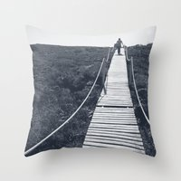 adventure Throw Pillows featuring Adventure by Light Wanderer