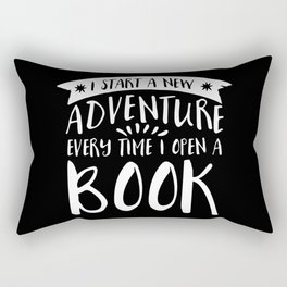 I Start a New Adventure Every Time I Open a Book! - Inverted Rectangular Pillow