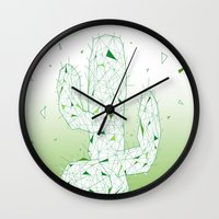 cactus Wall Clocks featuring Cactus by ARCHIGRAF