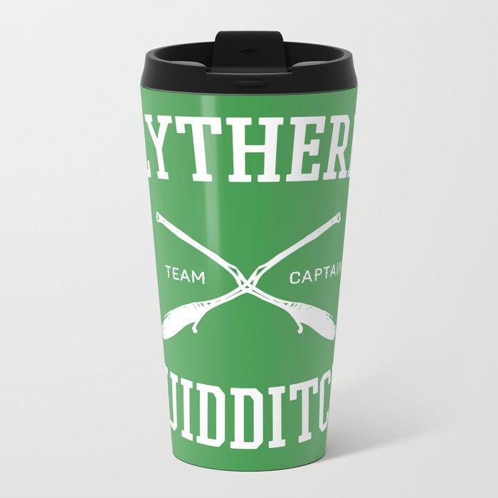 Hogwarts Quidditch Team: Slytherin Metal Travel Mug