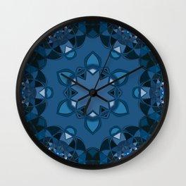 dark blue kaliedoscope Wall Clock