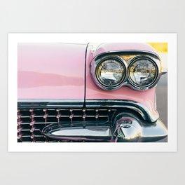 Pink Cadillac (front) Art Print