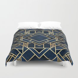 Art Deco Fancy Blue Duvet Cover