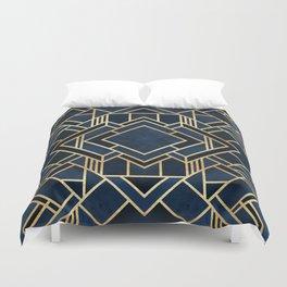Art Deco Fancy Blue Duvet Cover