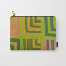 Painted Color Block Squares Carry-All Pouch