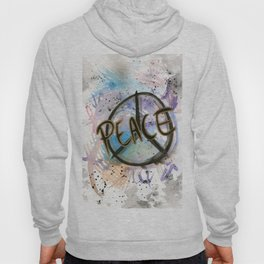 Peace Sign Art Print Hoody