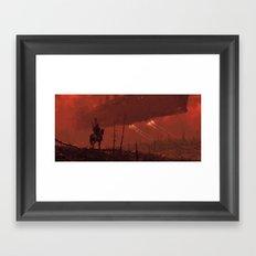 1920 - red dragon Framed Art Print