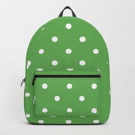 Polka Dots Pattern: Grass Green Backpack