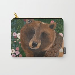 Bear with Flowers Carry-All Pouch