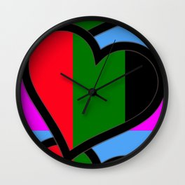 Black Hearts in the Garden Wall Clock