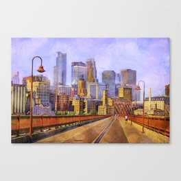 The city is calling my name today. Canvas Print