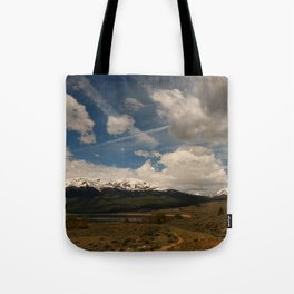 Dramatic Sky Over Twin Lakes Colorado Tote Bag