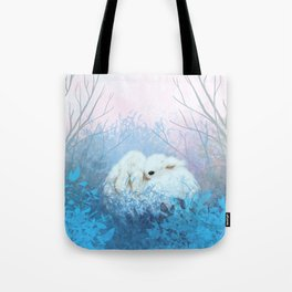 Baby Bun Buns at Dusk Tote Bag