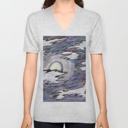 Moon in the Cool Unisex V-Neck