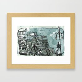 Gloomy Cityscape Framed Art Print