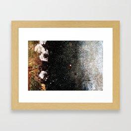 Abstract wall grey painting Framed Art Print